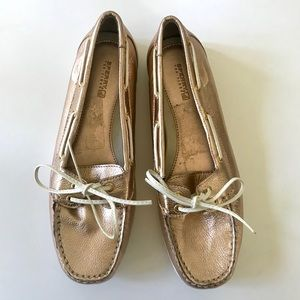 Sperry Rose Gold Boat Shoe